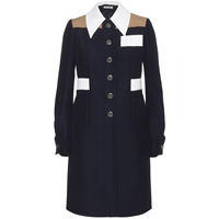 Miu Miu Colour Block Coat Inchiostro