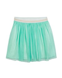Kate Spade Pleated Glittered Tulle Skirt Size 7 14 Green