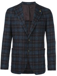 Tagliatore Checked Blazer Brown