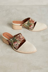 Anthropologie Jeffrey Campbell Tapestry Mules Neutral Motif