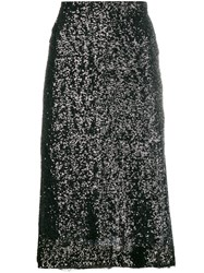 Gianluca Capannolo Sequin Embroidered Skirt Black