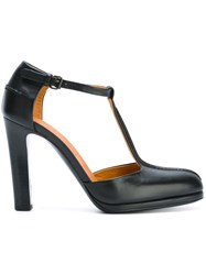 Veronique Branquinho T Strap Pumps Black