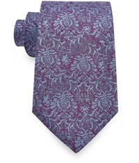 Austin Reed 8Cm Purple And Lilac Floral Silk Tie