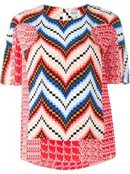 Kenzo Chevron Print Top Multicolour