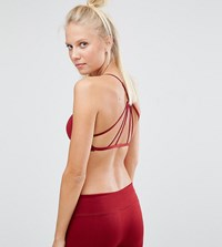 South Beach Berry Soft Strappy Bralette Crop Top Red