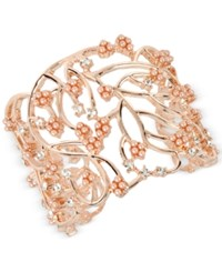 Inc International Concepts M. Haskell For Imitation Pearl Cluster Openwork Cuff Bracelet Only At Macy's Rose Gold