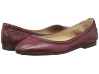 Frye Carson Ballet Burnt Red Antique Soft Vintage Women's Flat Shoes Tan