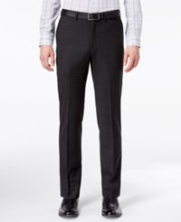 Dkny Men's Slim Fit Stretch Textured Suit Pants Black