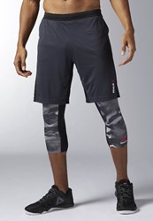 Reebok Force Sports Shorts Lead Anthracite