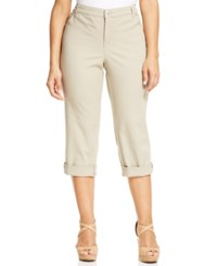 Styleandco. Style And Co. Plus Size Tummy Control Capri Jeans French Birch