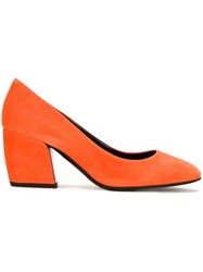 Pierre Hardy Curved Heel Pumps Yellow Orange