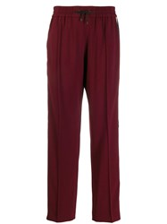 Kenzo Side Stripe Track Pants Red
