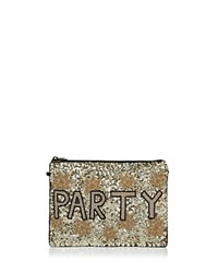 From St Xavier Nye Sequin Clutch Gold