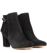 Tabitha Simmons Surrey Suede Ankle Boots Black