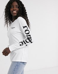 Abercrombie And Fitch Long Sleeve Logo T Shirt White