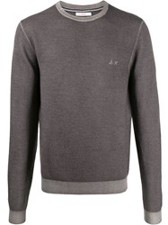 Sun 68 Vintage Look Jumper Grey