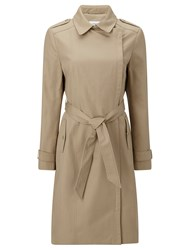 John Lewis Tailored Zipper Trench Coat Warm Stone