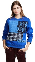 Michaela Buerger Plaid Sweater Blue Multi