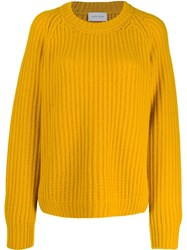 Christian Wijnants Chunky Knit Jumper Yellow
