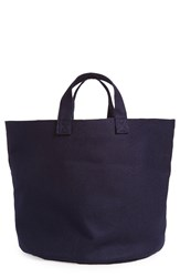 Tricot Comme Des Garcons Small Wool Tote Navy