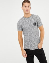 Hype T Shirt In Rib With Crest Logo Grey