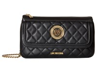 Love Moschino Long Classic Quilted Crossbody Bag Black Cross Body Handbags