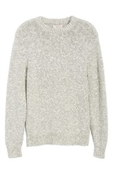 J.Crew Wallace And Barnes Crewneck Marled Cotton Sweater Dark Pacific
