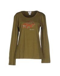 Braccialini Topwear T Shirts Women Military Green