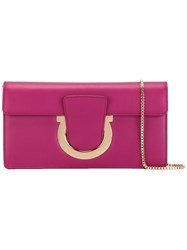 Salvatore Ferragamo Thalia Clutch Pink Purple