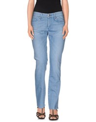 People Denim Denim Trousers Women Blue