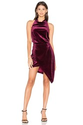 Elliatt X Revolve Velvet Camo Mini Dress Burgundy
