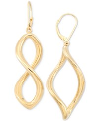 Signature Gold Infinity Hoop Earrings In 14K Over Resin Created For Macy's Gold