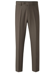 Skopes Brooklyn Flat Front Trousers Taupe