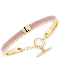 Bcbgeneration Gold Tone Love Letter Initial Bangle Bracelet Yellow Pink L