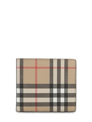 Burberry Coated Check Billfold Wallet Archive Beige