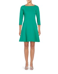 Eliza J Knit A Line Dress Green