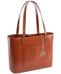 Mcklein Alyson Leather Tote Brown