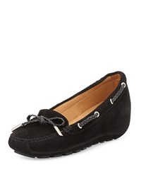 Andre Assous Ofilia Suede Wedge Loafer Black