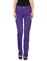 Escada Sport Trousers Casual Trousers Women Purple