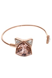 Ca And Lou Rose And Crystal Cat Bracelet R Gold