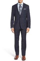 Boss Men's 'Huge Genius' Trim Fit Plaid Wool Suit