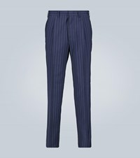 The Gigi Tonga Pinstripe Tapered Pants Blue
