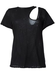 Unravel Project Cut Off Detailing T Shirt Black