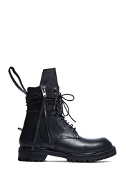 Rick Owens Chunky Wrap Around Army Boots Black