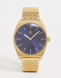 Adidas Z02 Process Bracelet Watch In Gold With Navy Dial