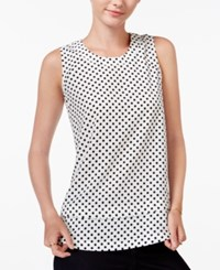 Maison Jules Tiered Polka Dot Top Only At Macy's Egret Combo