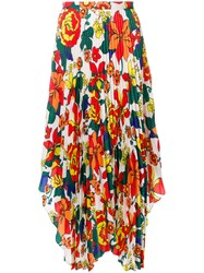 Pringle Of Scotland Sun Ray Pleated Skirt Polyester Multicolour