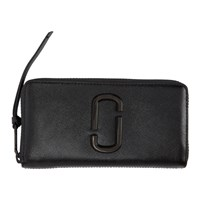 Marc Jacobs Black Snapshot Standard Continental Wallet