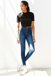 Dr. Denim Plenty Mid Rise Super Skinny Jean Tinted Denim