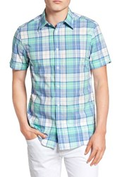 Ben Sherman Men's Mod Fit Madras Plaid Sport Shirt